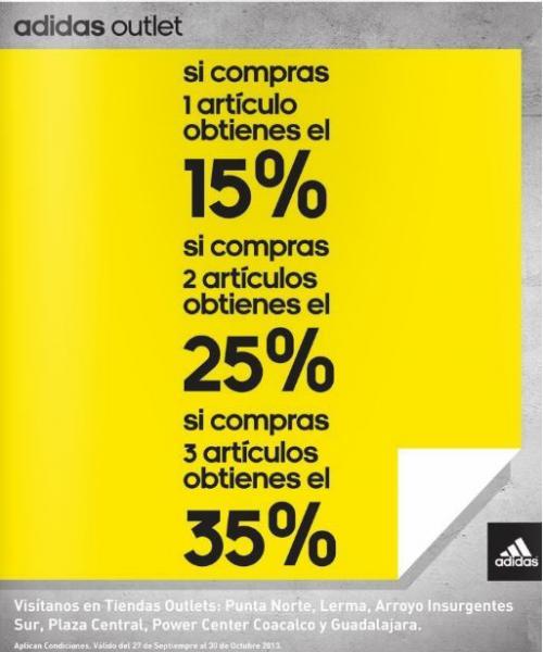 Adidas Outlet: 15% de descuento en todo, 35% comprando 3 artículos y más