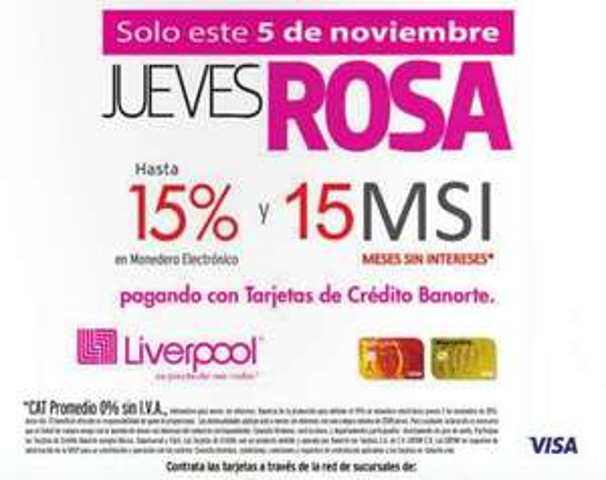Liverpool: jueves rosa 5 de noviembre