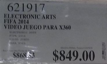 Costco: FIFA 14 para Xbox 360 y PS3 a $849