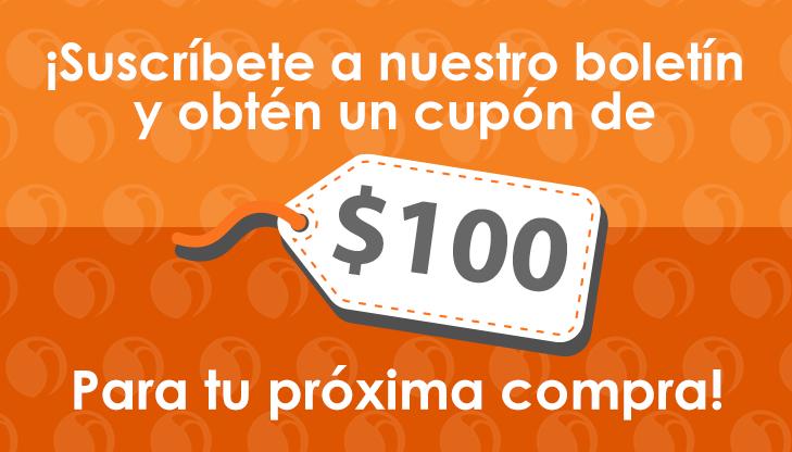 Intercompras: Cupón $100 al suscribirse al boletín