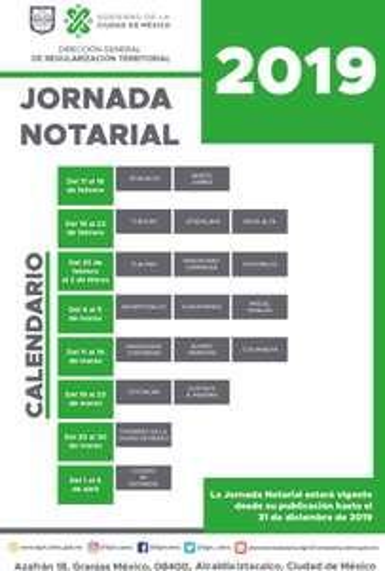 CDMX: Jornada Notarial 2019