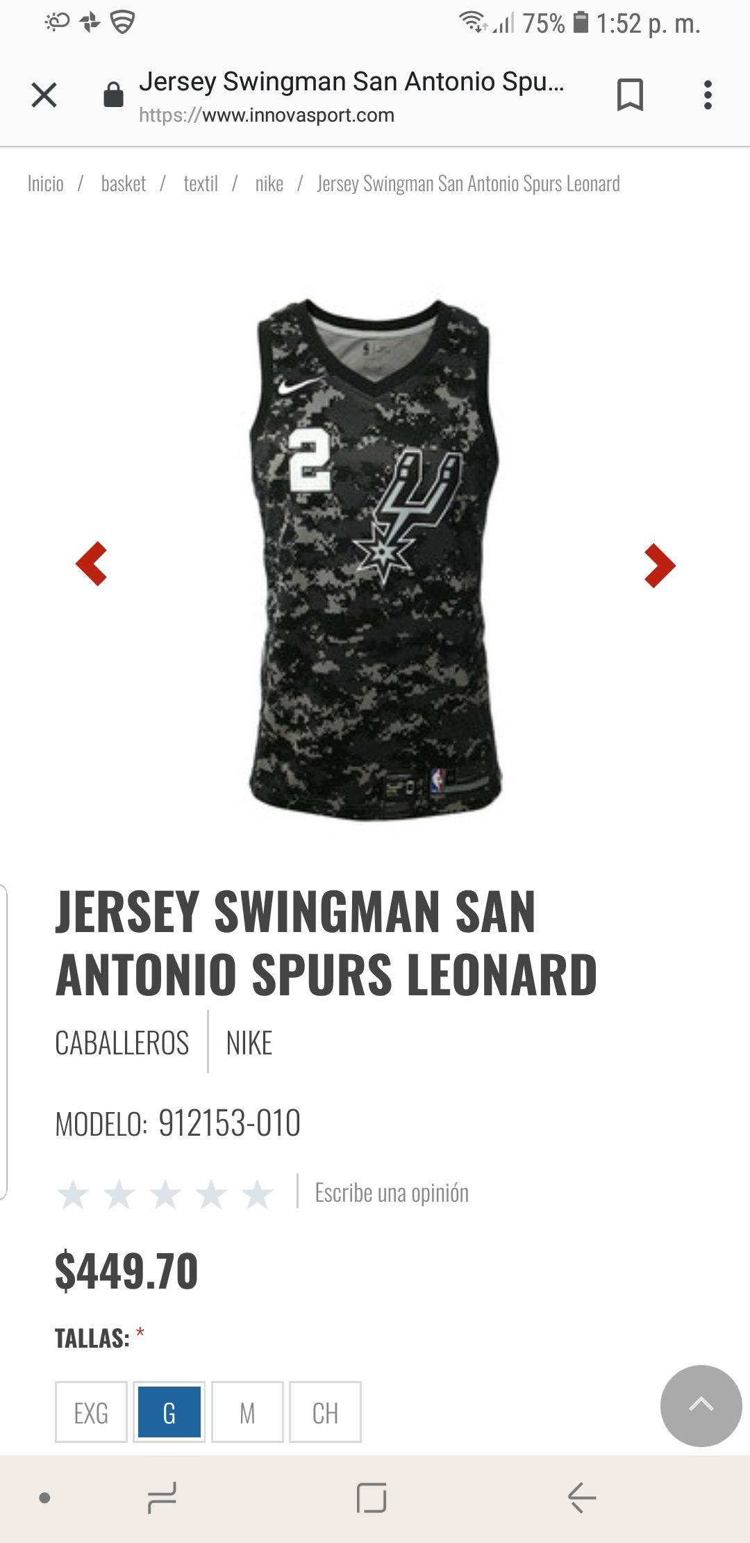innovasport: Jersey NBA San Antonio