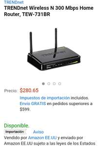 Amazon: Router Trendnet $281