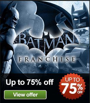 Juegos PC: Arkham Asylum o Lego Batman US$4, Arkham City o Lego Batman 2 $6 y más