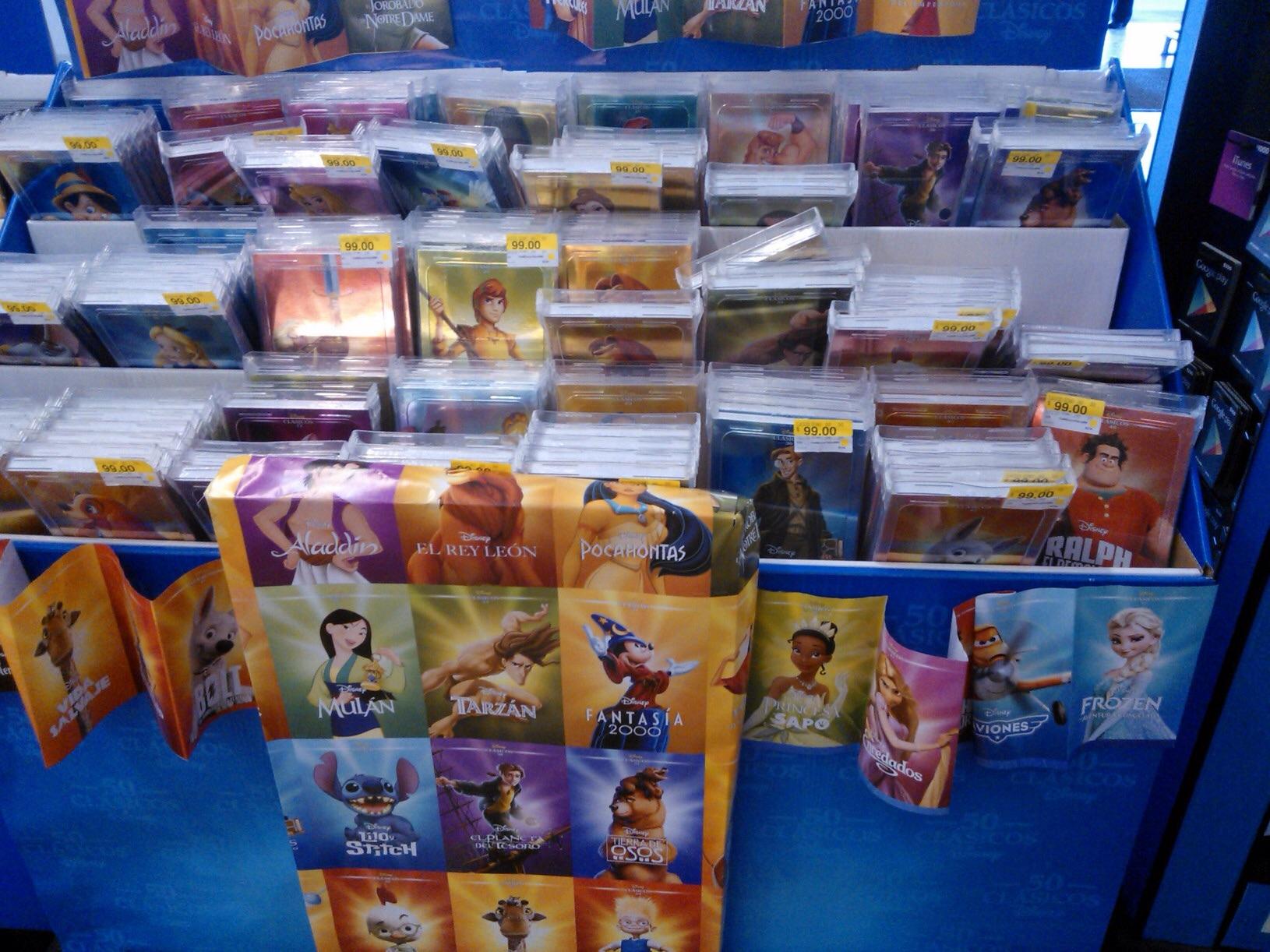 DVD Clásicos de Disney a $99 en Walmart