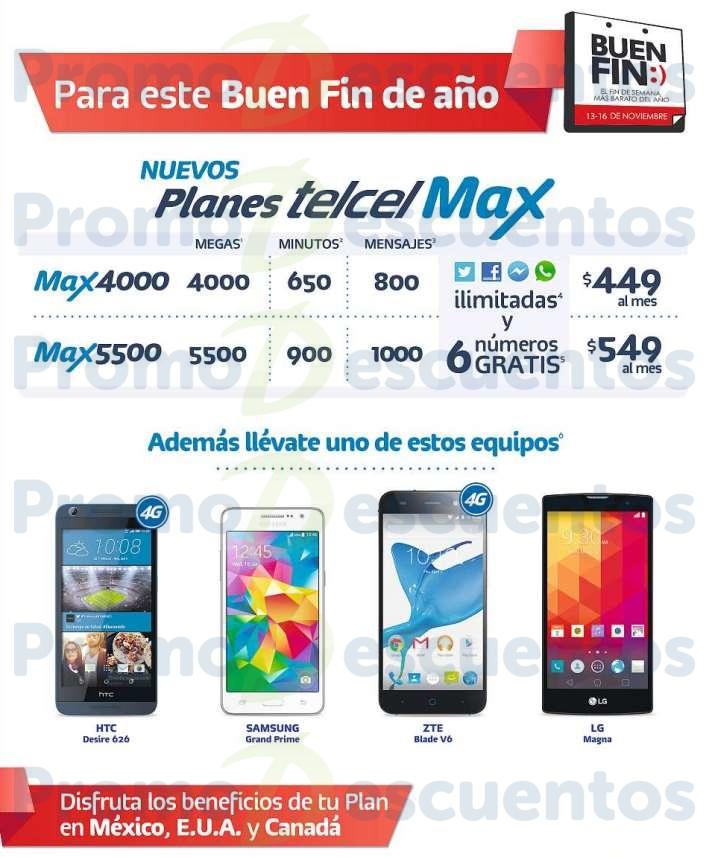 Promociones del Buen Fin 2015 en Telcel: lanzamiento planes Telcel Max