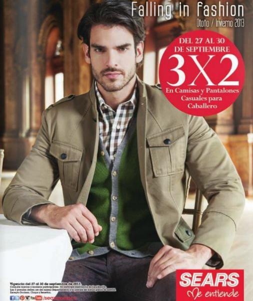 Sears: 3x2 en camisas, corbatas y pantalones y 20% menos en ropa para todos