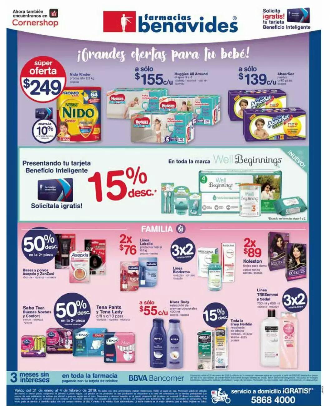 Farmacias Benavides: Ofertas del Jueves 31 de Enero al Lunes 4 de Febrero