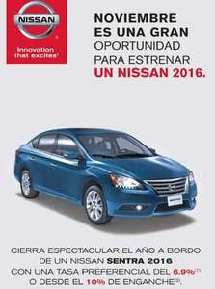 Ofertas del Buen Fin 2015 en Chrysler, Nissan y Mitusbishi