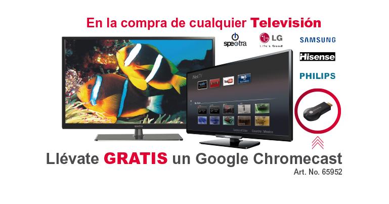 Office Depot: Gratis Google Cromecast en la compra de cualquier TV