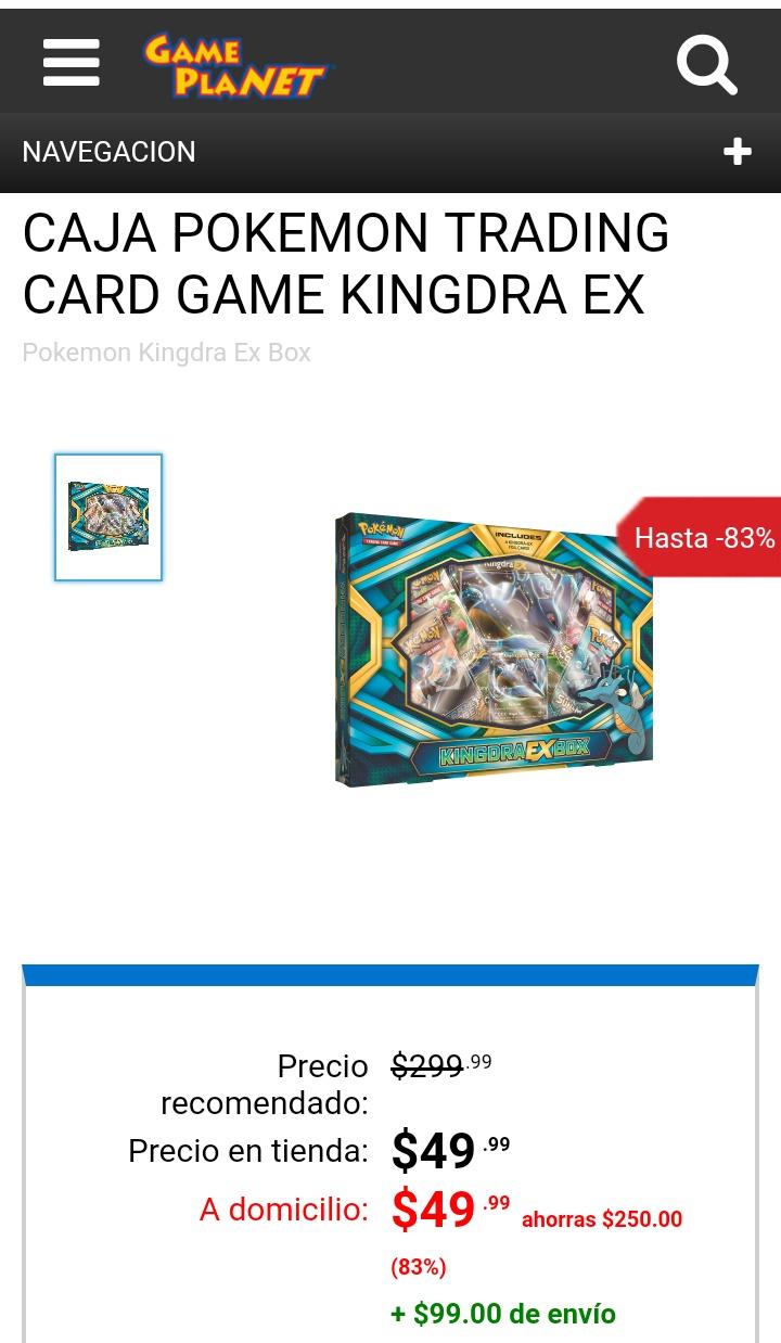 Gameplanet: CAJA POKEMON TRADING CARD GAME KINGDRA EX ($49)