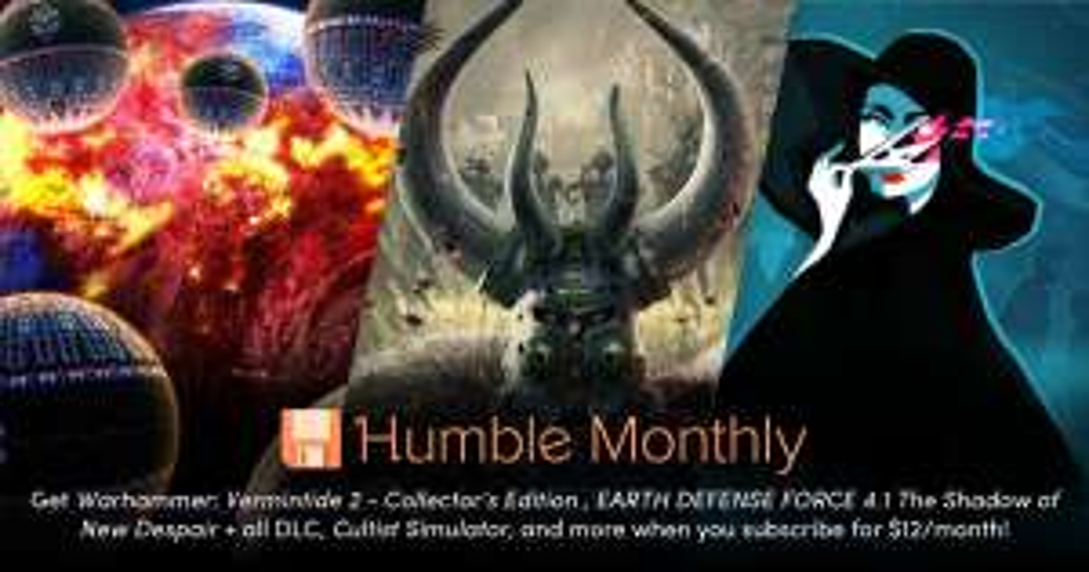 Humble Bundle: Vermintide 2, EARTH DEFENSE FORCE 205 con cupón de descuento