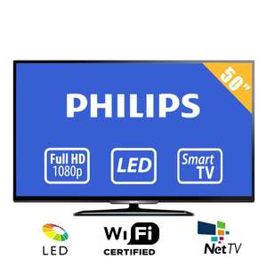 Walmart online: TV Philips 50 Pulgadas Full HD Smart TV LED Modelo: 50PFL4909/F8