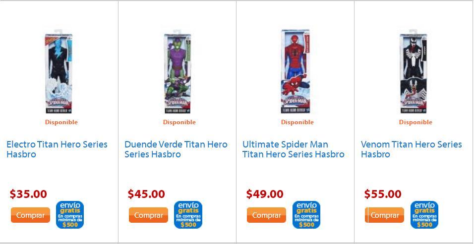 Walmart: Figuras de Acciòn de la linea SpiderMan desde $35