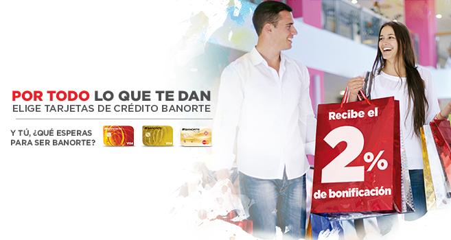 Banorte: te regresa el 2% de tus compras con tarjeta de crédito (aplica en El Buen Fin)