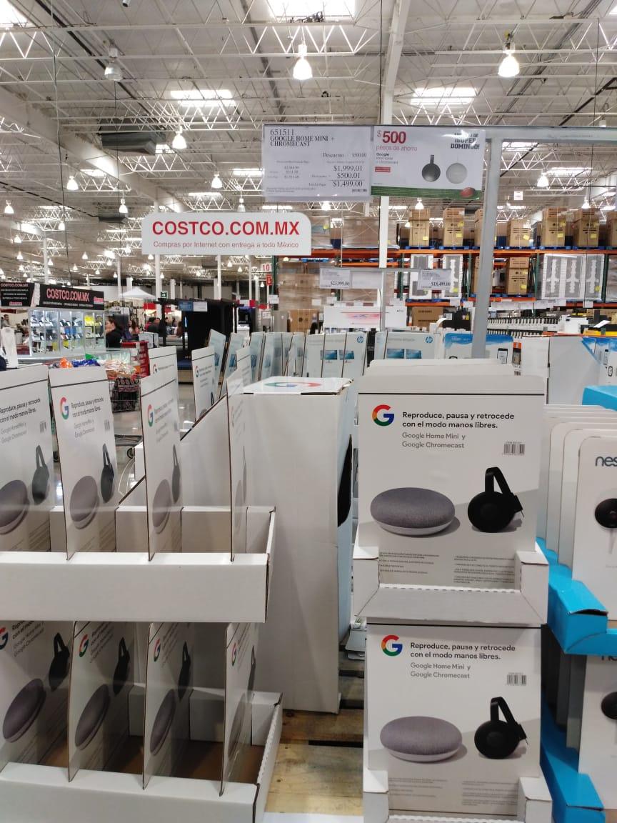 Costco: Google home mini y Chrome cast