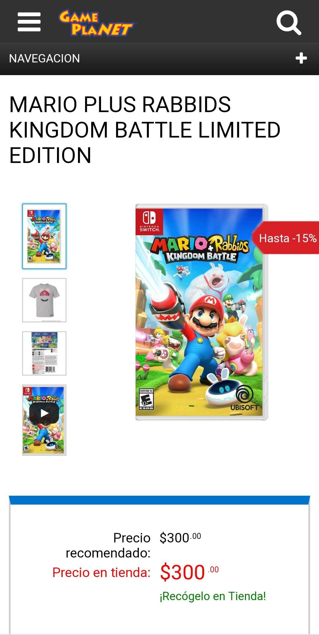Game Planet: Mario + Rabbids Kingdom Battle (usado)