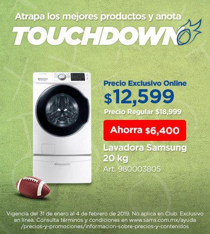 Sam's Club: lavadora Samsung 20kg