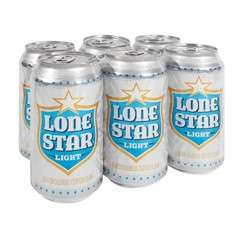 HEB: CERVEZA LONE STAR LIGHT O CLARA SIX 355 ML