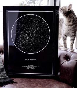 """Regalo """"Gratis"""" para San valentin - Mapa de estrellas y constelaciones"""