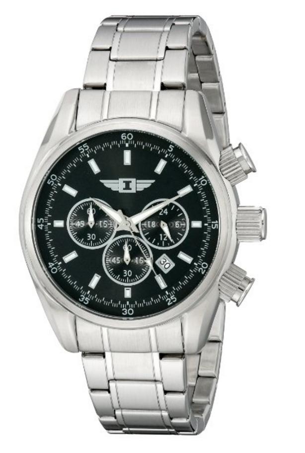 Amazon: Invicta para hombre 89083-002 Reloj cronógrafo de acero inoxidable con esfera negra y más