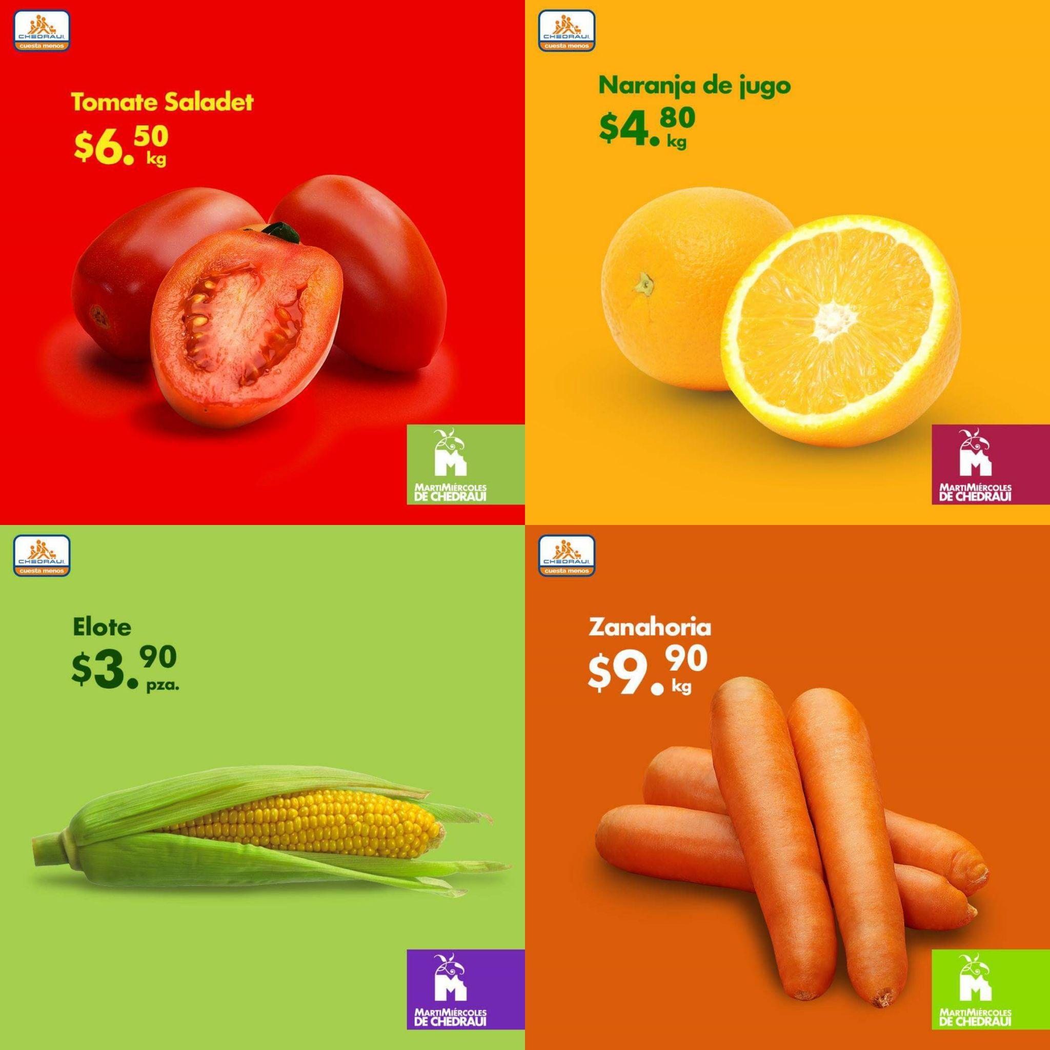 Chedraui: Martimiercoles de Frutas y Verduras 5 y 6 de Febrero