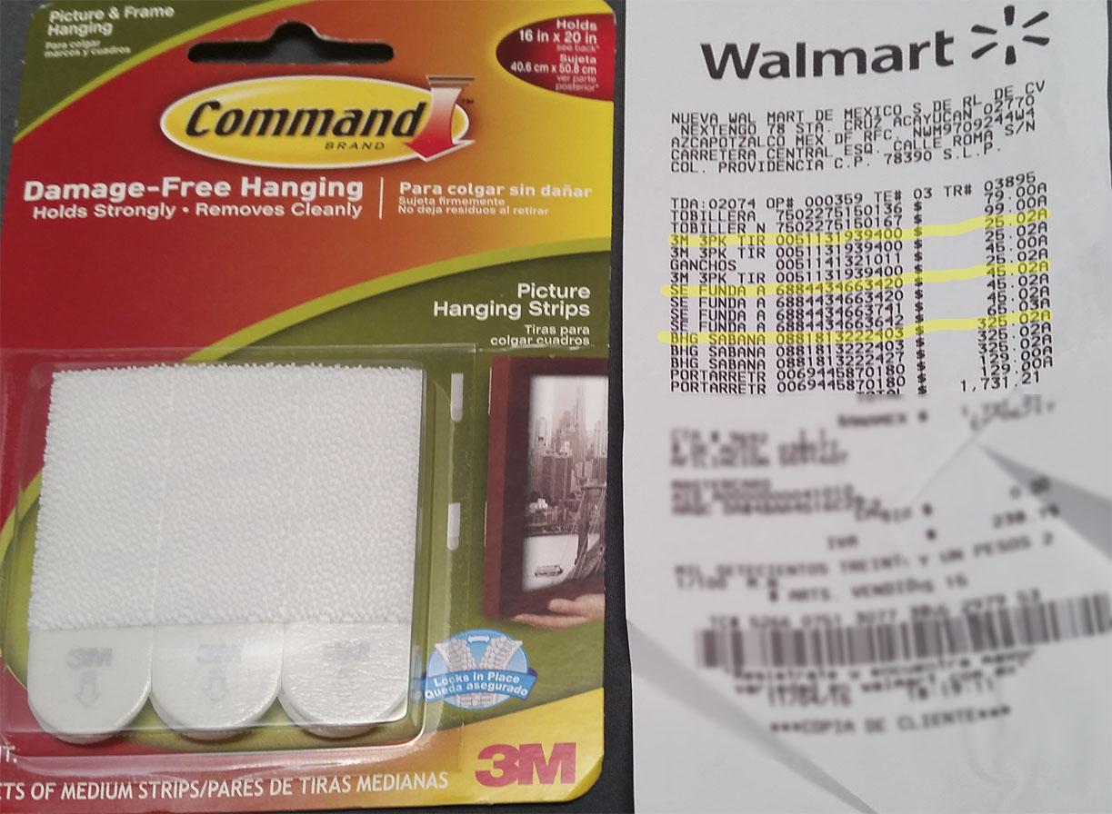 Walmart: Tiras adhesivas Command a $25.02