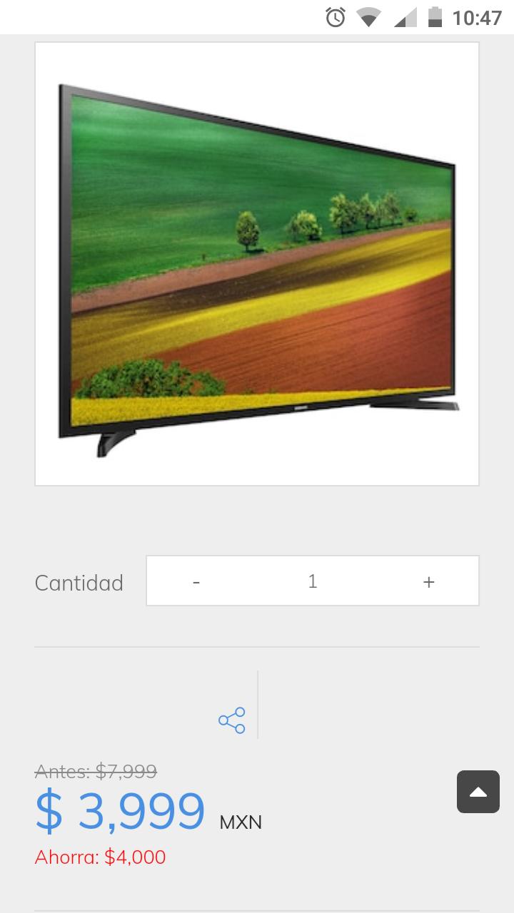 "sanborns: Pantalla Samsung 32"" UN32J4290AFXZ"
