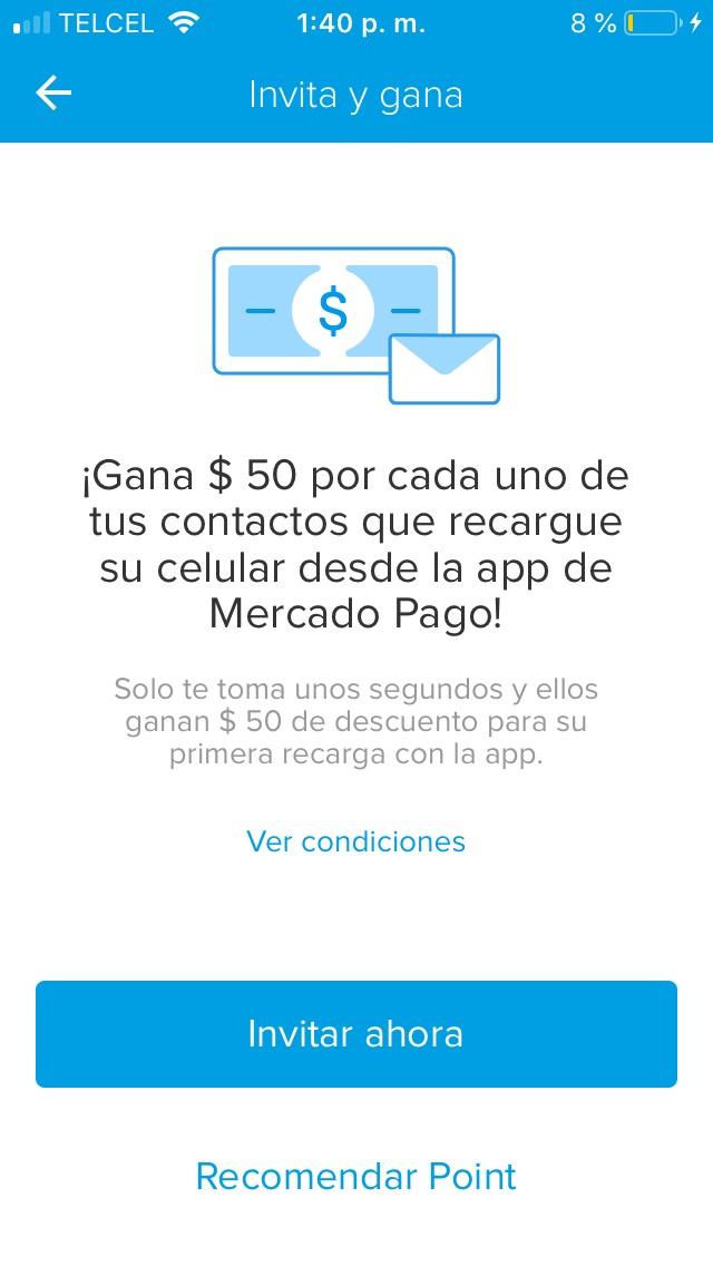 Mercado Pago: gana $50 al invitar a la app