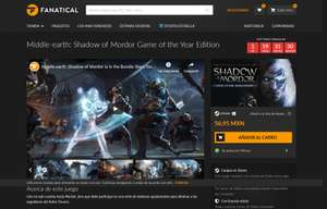 Fanatical: Shadow of Mordor: Game of the Year Edition (steam key) + flash sale y cupón