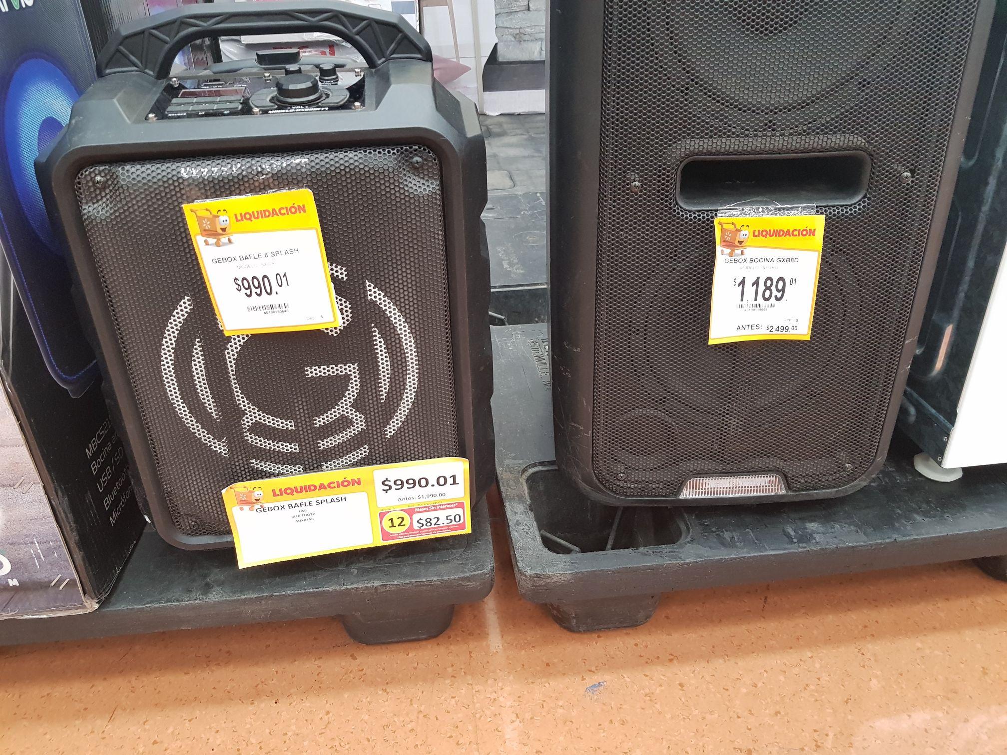 Walmart: Gebox bocina GXB8D