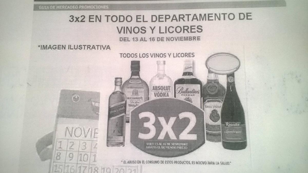 Promociones del Buen Fin 2015 en Soriana: vinos y licores al 3x2 y más