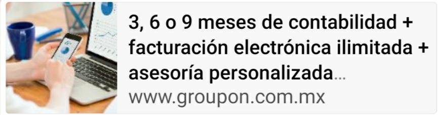 Groupon: 3 Meses de Contabilidad con Facturación Electrónica Ilimitada