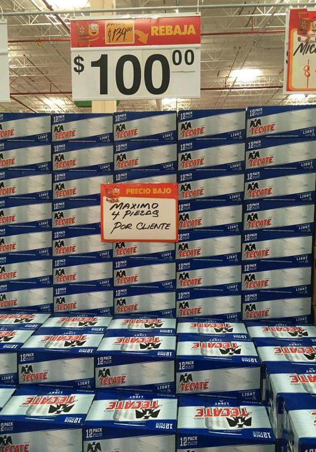 Walmart: Tecate Light 12 Pack a $100