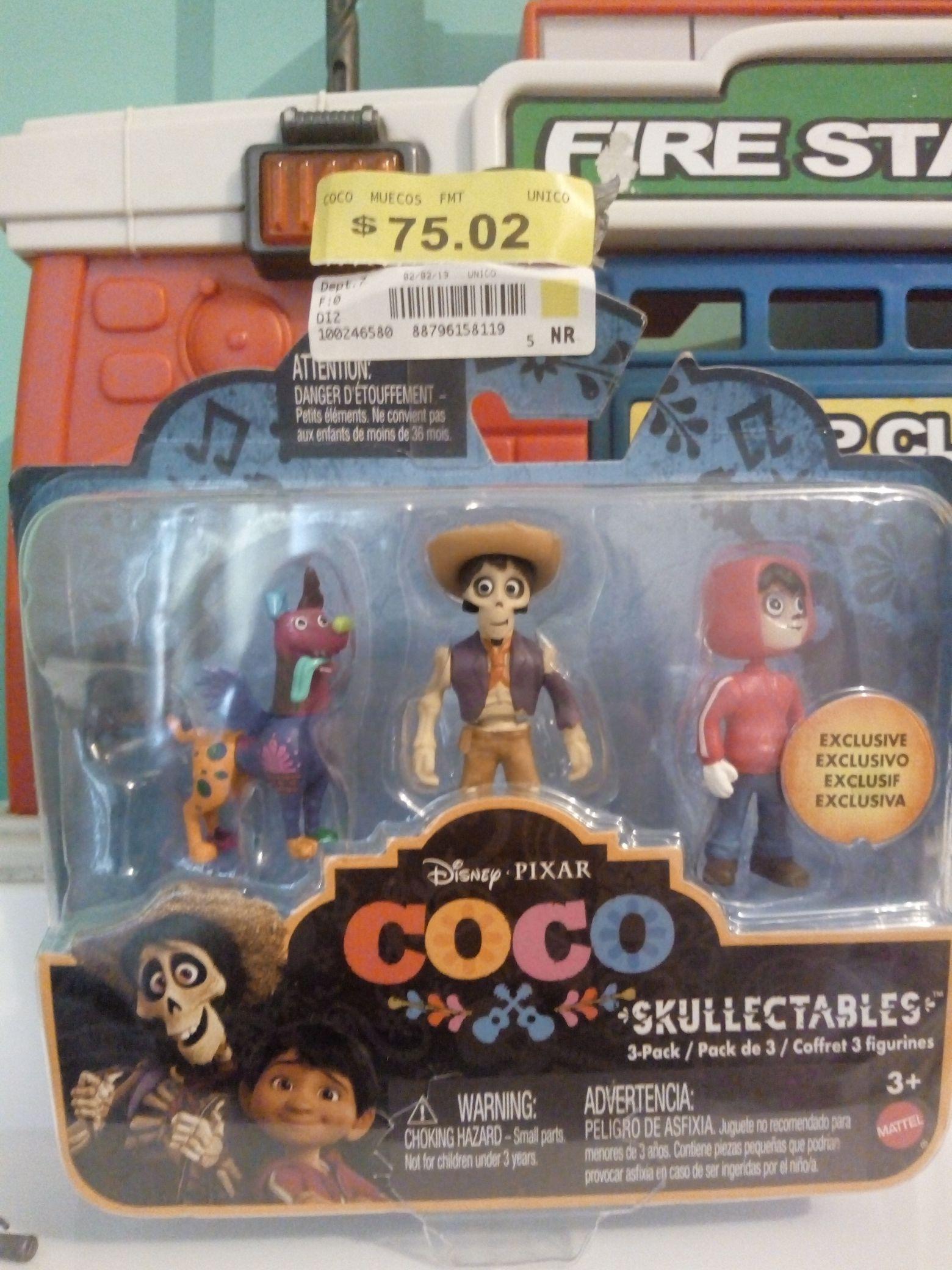 """Walmart: Figuras de la película """"Coco"""""""