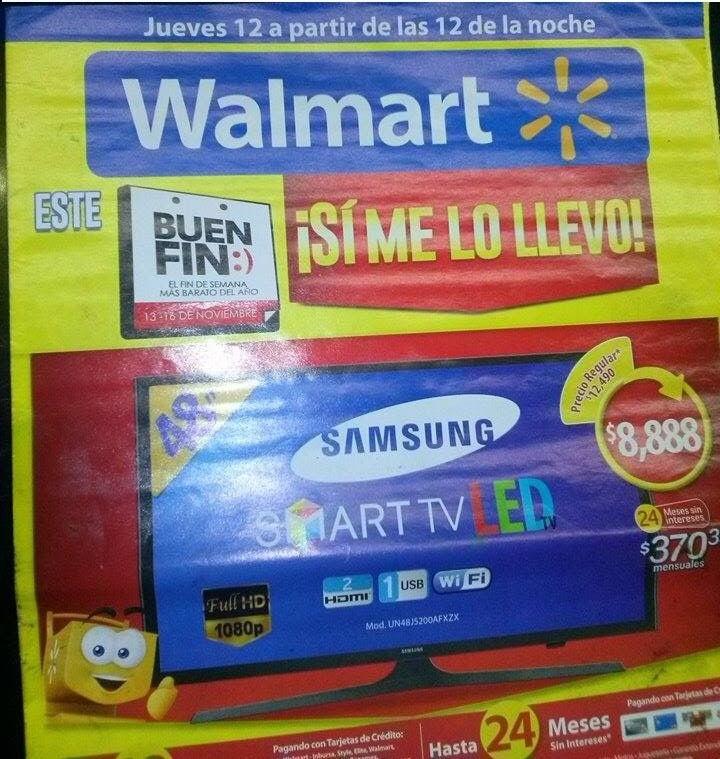Folleto de ofertas del Buen Fin 2015 en Walmart