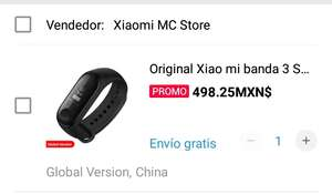 AliExpress: Mi band 3 Xiaomi