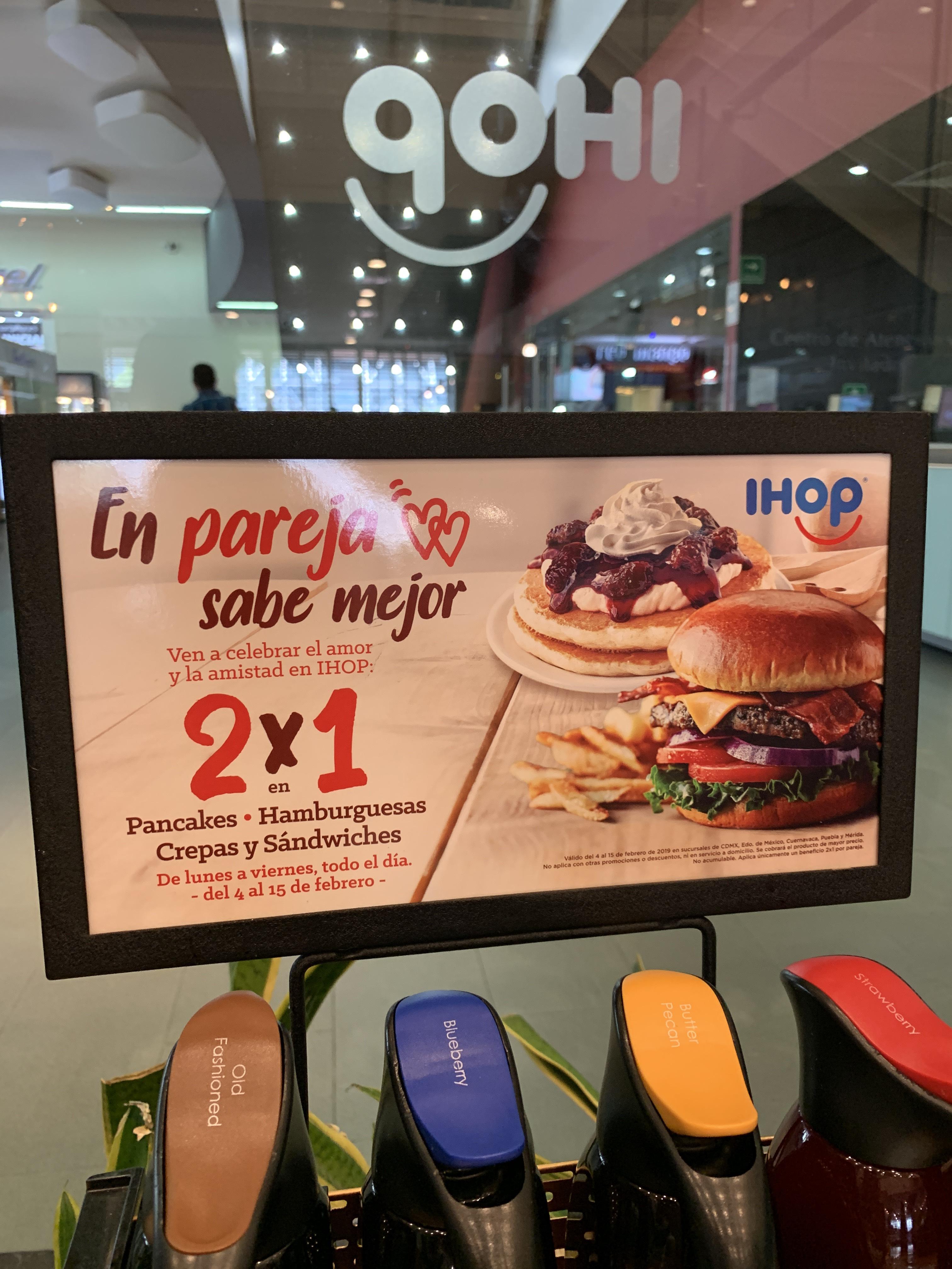 iHop: Hamburguesas, crepas y sándwiches 2x1