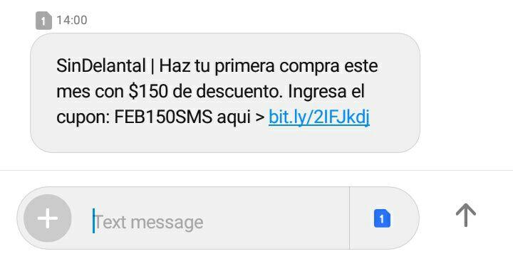 """Descuento SINDELANTAL $150 """"Nuevos usuarios"""""""