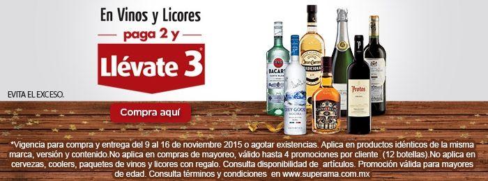 Ofertas del Buen Fin 2015 en Superama: 3x2 en vinos y licores desde Hoy!