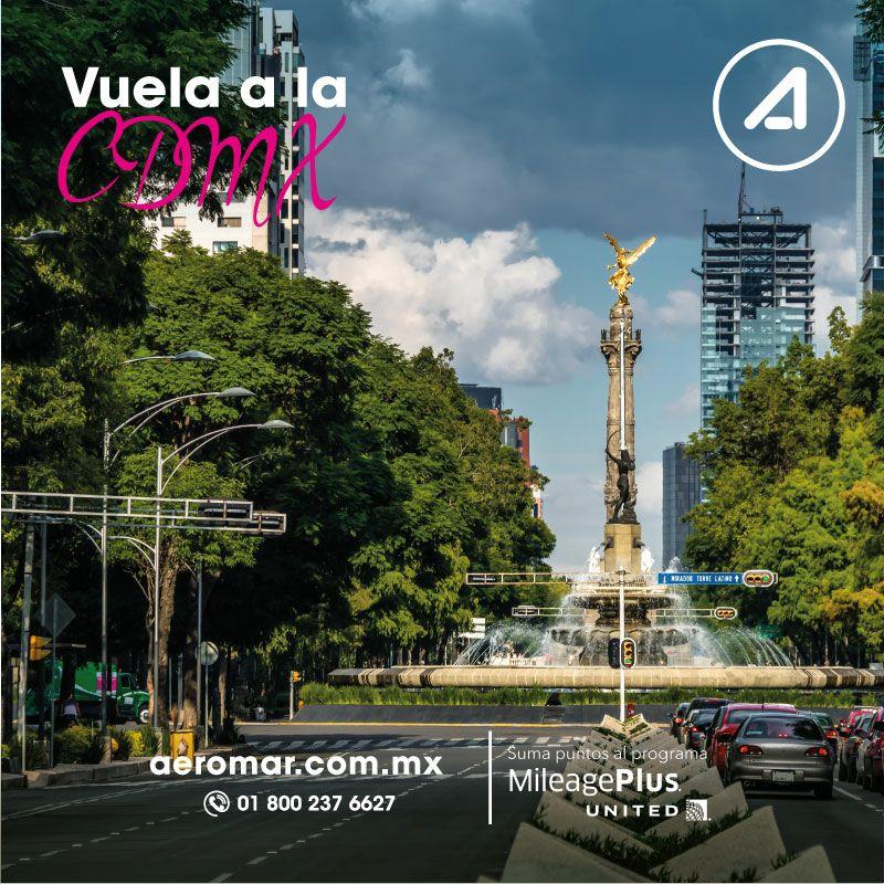 Aeromar: Vuelos Colima a CD de México y viceversa $729