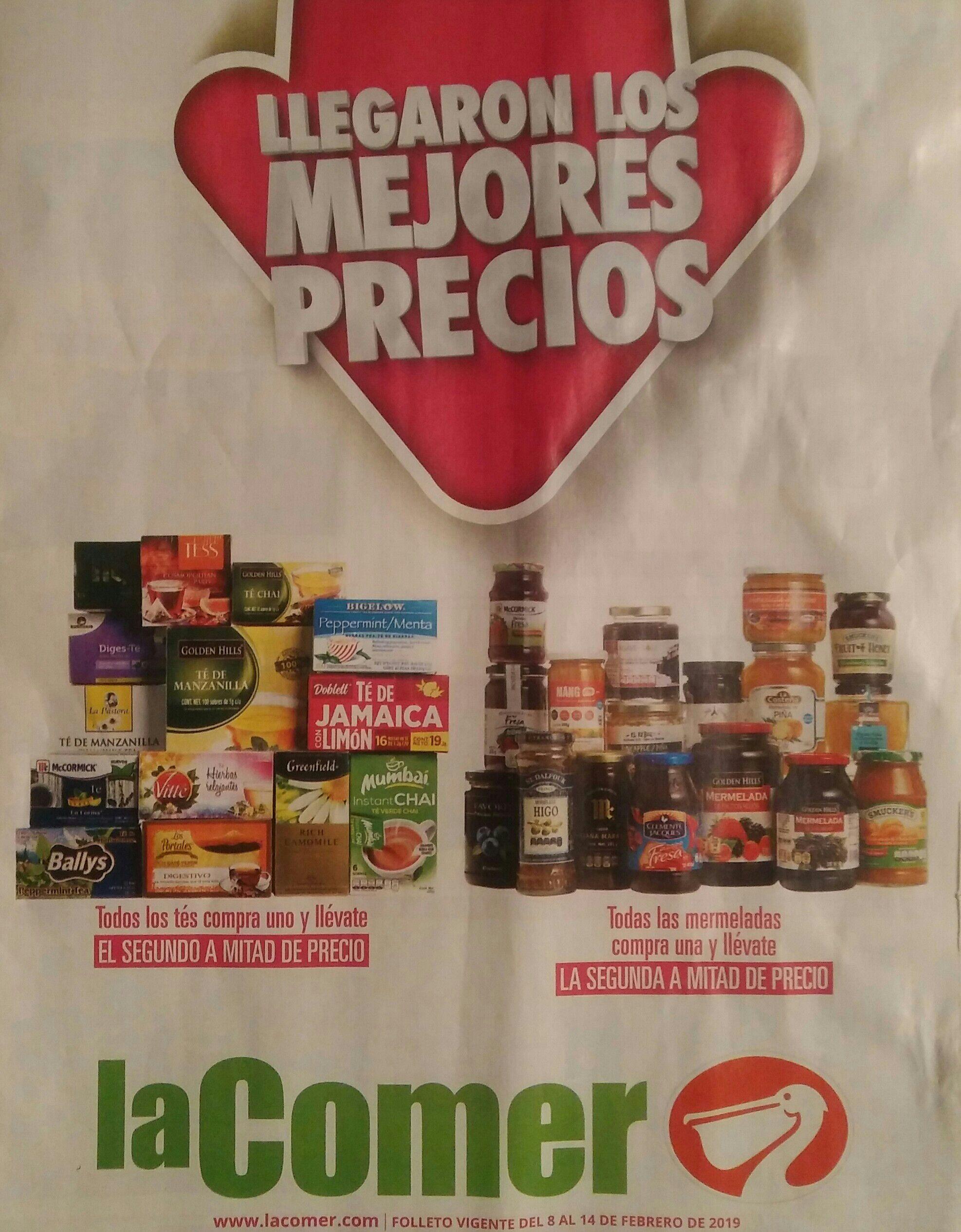 La Comer: Folleto de Ofertas de productos al 2 x 1½ del Viernes 8 al Jueves 14 de Febrero