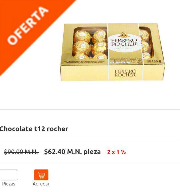 La comer en línea: Ferrero Rocher 2 cajas de 12 pz.