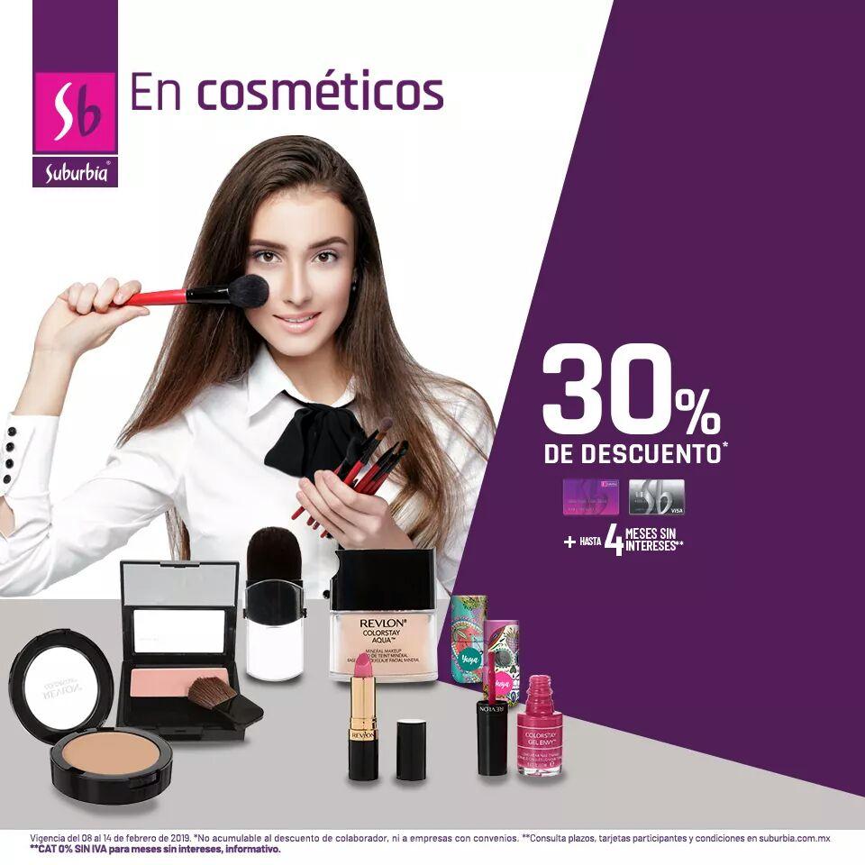Suburbia: 30% de descuento en cosméticos y accesorios de belleza