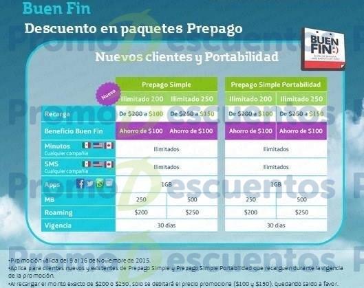 Promoción del Buen Fin 2015 en Movistar: planes ilimitados con prepago simple