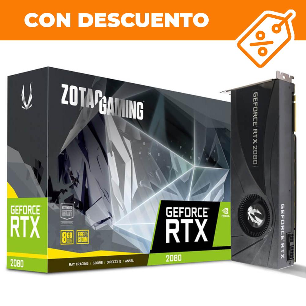 ddtech: RTX 2080 8GB - Zotac - Incluye BF5 y Anthem