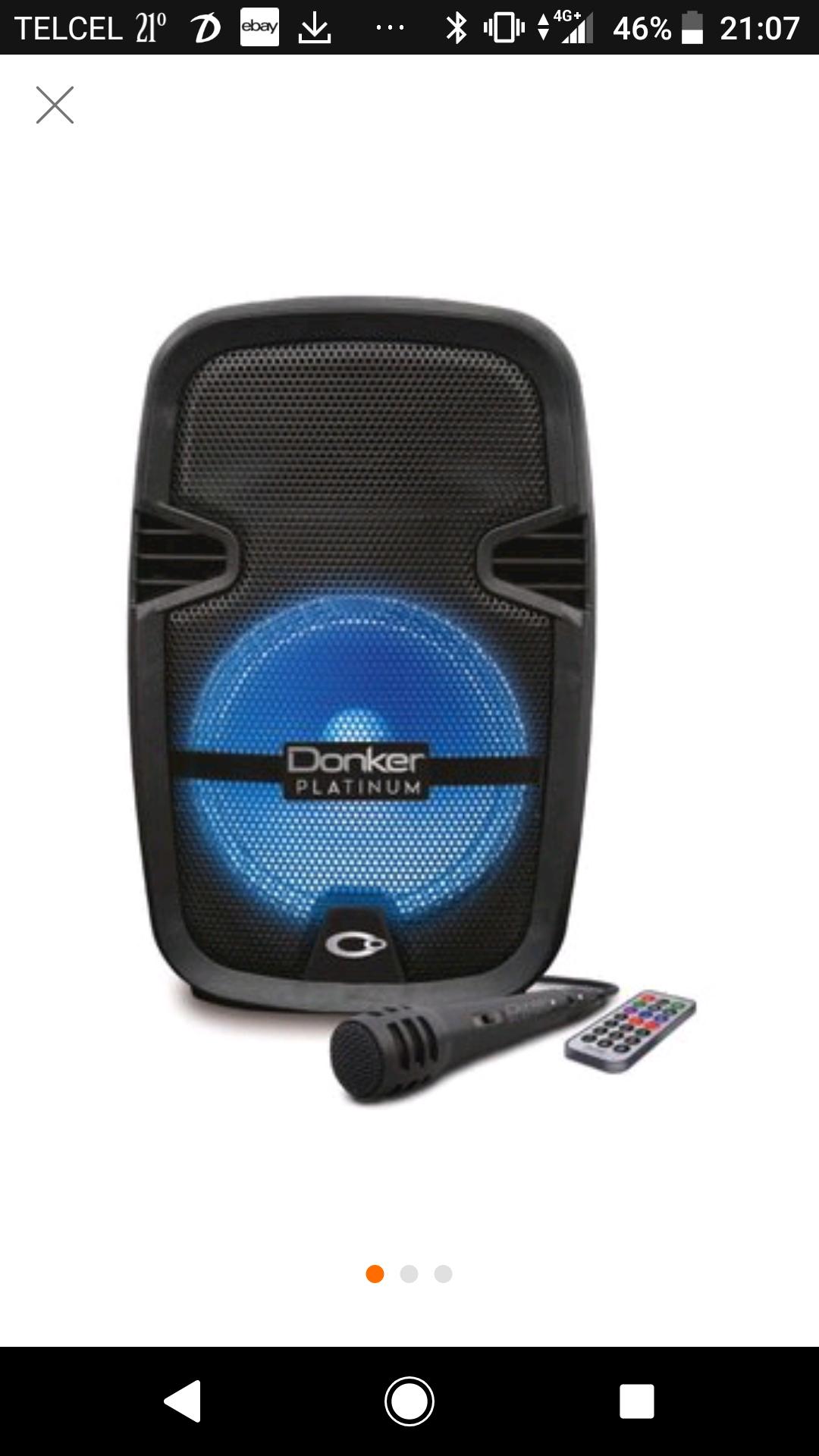 "Linio:   Bafle Donker Platinum Recargable 8"" MSA-4008"