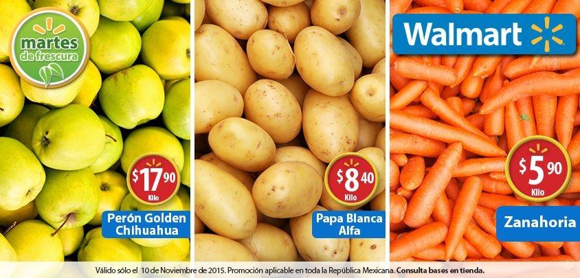 Martes de frescura en Walmart noviembre 10: zanahoria a $5.90 el kilo y más