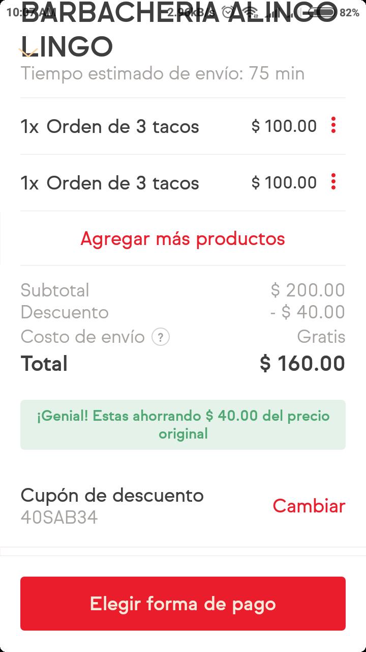 Sin Delantal: Cupón $40 pesos de Descuento