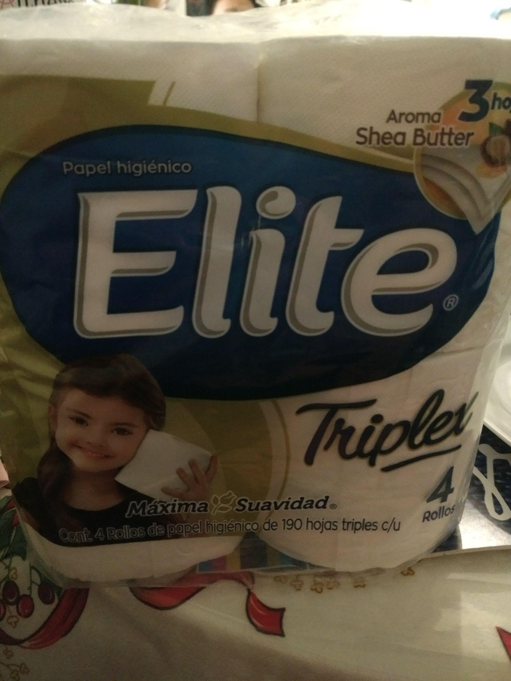 La comer: papel higiénico elite triplex paquete 4 rollos
